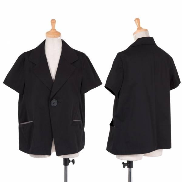 【SALE】リミフゥLIMIfeu 1B半袖コットンギャバショートジャケット 黒S【中古】
