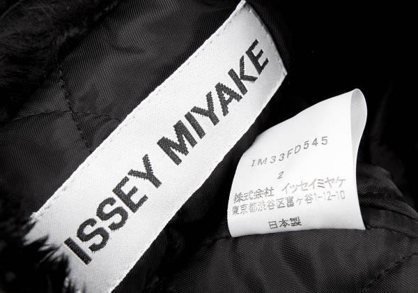 isseimiyake ISSEY MIYAKE毛皮轉換短長提花機茄克黑2
