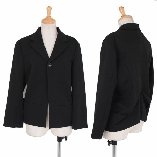 【SALE】トリコ コムデギャルソンtricot COME des GARCONS バックドレープデザインウールジャケット 黒M【中古】
