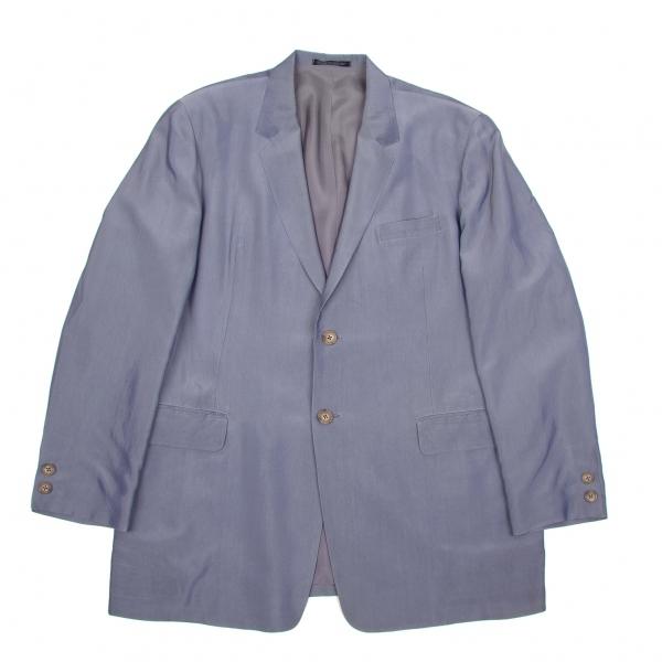 【SALE】ヨウジヤマモト プールオムYohji Yamamoto POUR HOMME 光沢レーヨン2Bジャケット グレーS【メンズ】