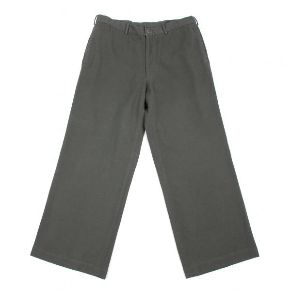 【SALE】ワイズフォーメンY's for men 製品染めウールデザインパンツ カーキグレー5【メンズ】