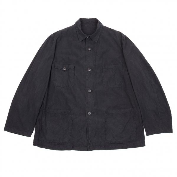 【SALE】ワイズフォーメンY's for men レーヨンコットンシャツジャケット 墨紺M位【メンズ】