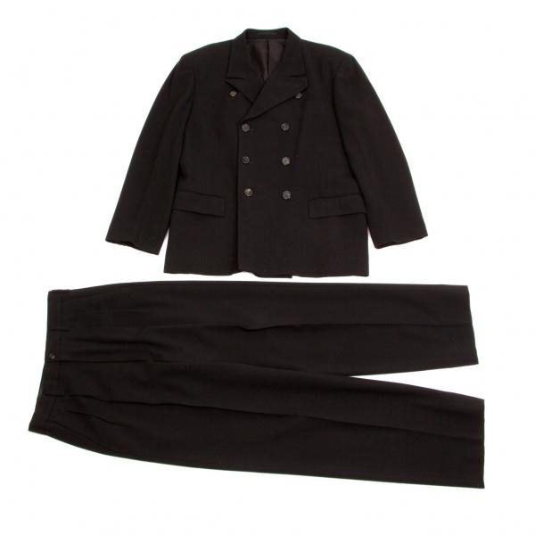 【SALE】ワイズフォーメンY's for men ウールコットン変形ラペルダブルセットアップスーツ黒S【中古】, 削り節屋 裕次郎:cc74f6b3 --- altovision.jp