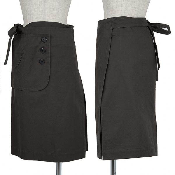 ワイズY's デザインオーバースカート グレー1【中古】