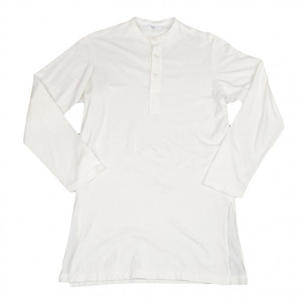 【SALE】ワイズフォーメンY's for men バンドカラーロング丈プルオーバーシャツ 白2【メンズ】
