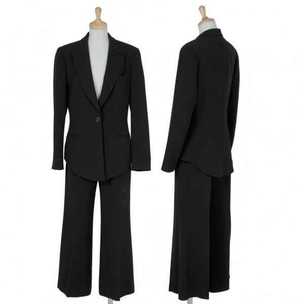 ジャンポールゴルチエクラシックJean Paul GAULTIER CLASSIQUE トリアセテートセットアップスーツ 黒40【中古】