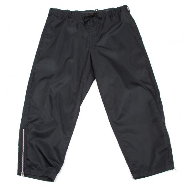 ワイズフォーメンY's for men ナイロンウエストドローコード裾ジップパンツ  黒S【中古】
