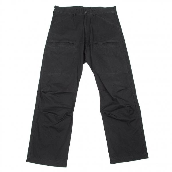 【SALE】ワイズフォーメンY's for men コットン裾ジップデザインパンツ 黒2【メンズ】