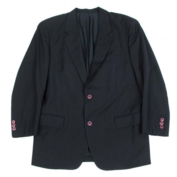 【SALE】イッセイミヤケ メンISSEY MIYAKE MEN ウール2Bジャケット 紺M【メンズ】