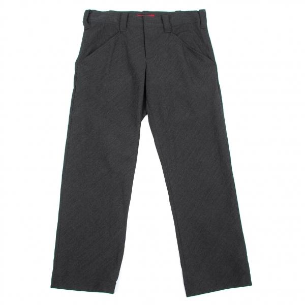 【SALE】ワイズ レッドレーベルY's Red Label ウールバックスラントポケットパンツ チャコール3【レディース】