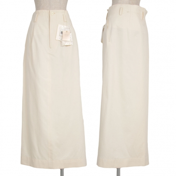 【最終値下げ】ワイズY's コットンシルクラップデザインスカート アイボリー3【中古】 【レディース】