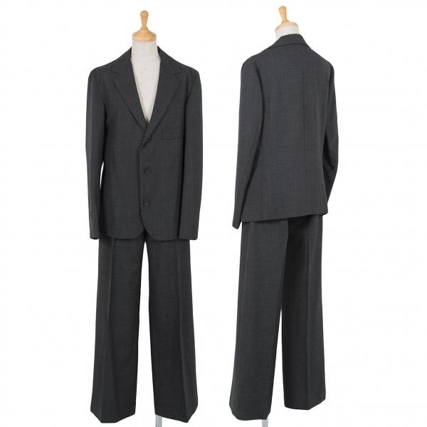 ワイズY's ウールミックス織りデザインセットアップスーツ チャコール3/M位【中古】