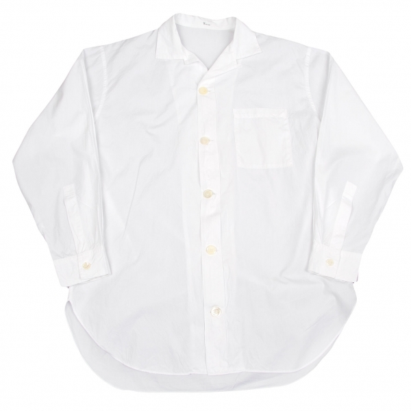 【SALE】ワイズフォーメンY's for men コットンデカボタンオープンカラーシャツ 白M位【メンズ】