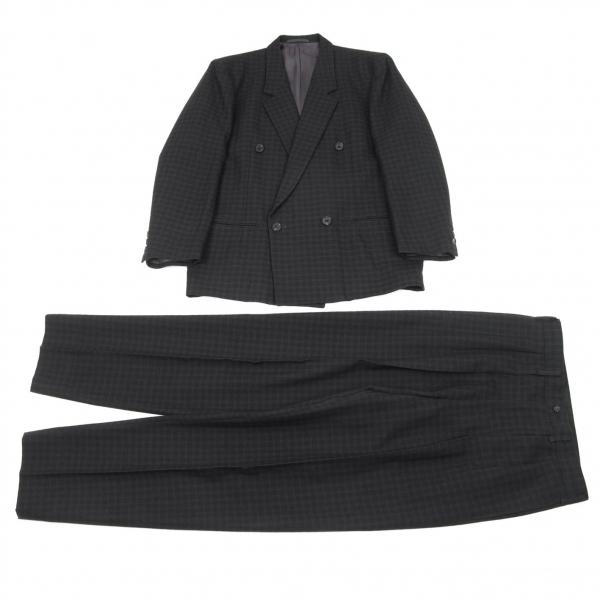 【SALE】ワイズフォーメンY's for men チェック織りウールセットアップスーツ グレー黒M/S【メンズ】