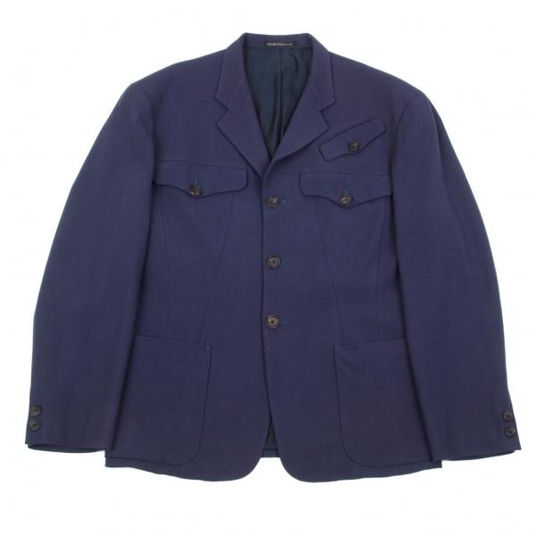 【SALE】ヨウジヤマモト プールオムYohji Yamamoto POUR HOMME ウールポケットデザインジャケット 紫M【メンズ】