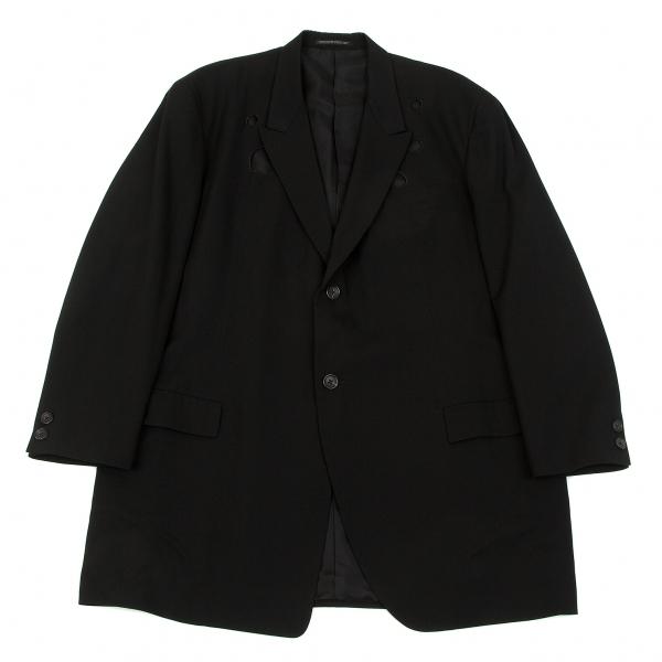 【SALE】ヨウジヤマモト プールオムYohji Yamamoto POUR HOMME ウールギャバデザイン2Bジャケット 黒S【メンズ】