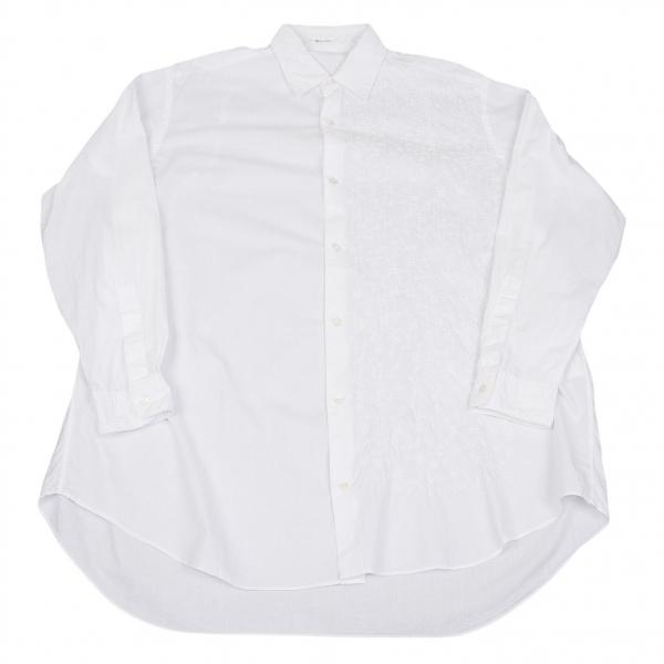 【SALE】ワイズフォーメンY's for men ボタニカル刺繍デザインシャツ 白M位【メンズ】