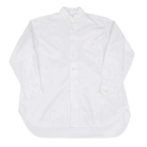 ヨウジヤマモト プールオム Yohji Yamamoto POUR HOMME 変形襟デカボタンシャツ 白M位【中古】