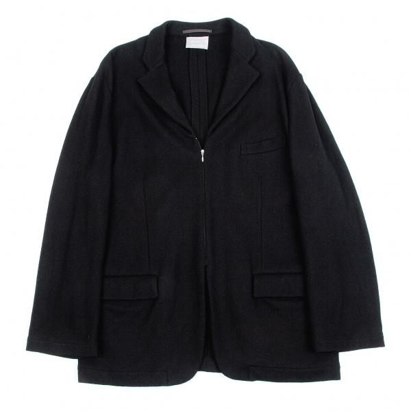 【SALE】コムデギャルソン オムプリュスCOMME des GARCONS HOMME PLUS ウールジップアップデザインジャケット 黒S位【メンズ】