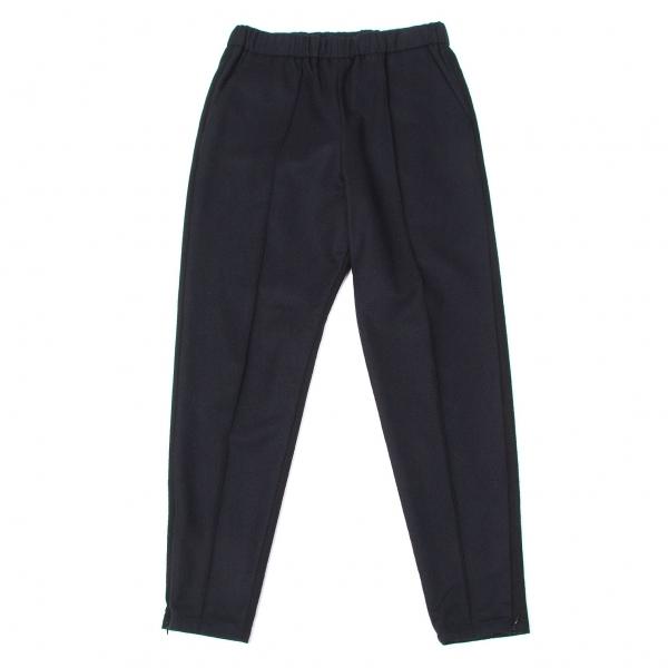 【SALE】ワイズY's 裾ジップウールバイカラーセンタータックパンツ 黒紺2【レディース】