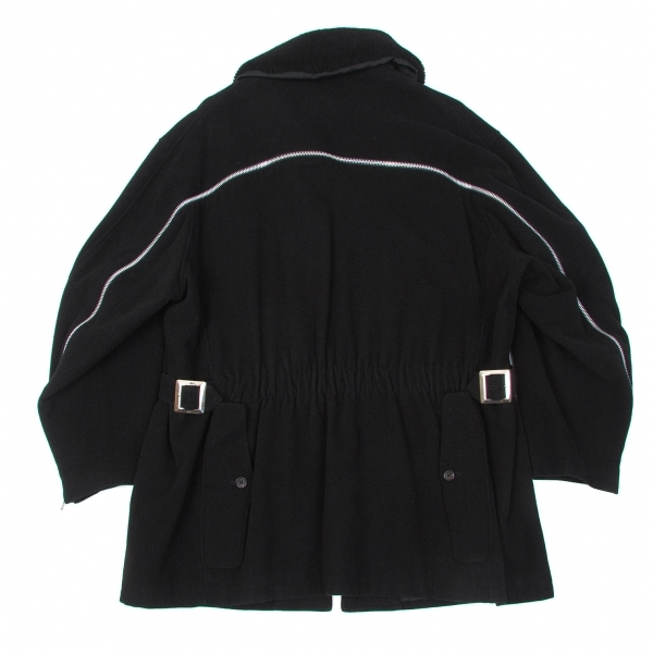 【SALE】ヨウジヤマモト プールオムYohji Yamamoto POUR HOMME 6.1 THE MEN バックジップデザインボアジャケット 黒S【メンズ】