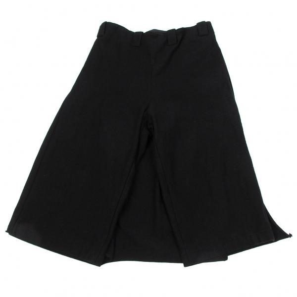 【SALE】ワイズY's 厚手コットンスカート風ラップパンツ 黒2【レディース】