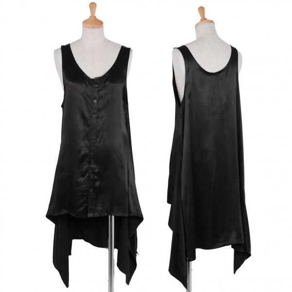 ワイズY's レーヨンデザインノースリーブシャツ 黒3【中古】