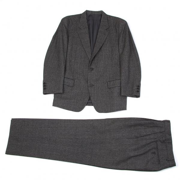ウールグレンチェックセットアップスーツ イッセイミヤケメンISSEY MIYAKE MEN グレーS【中古】