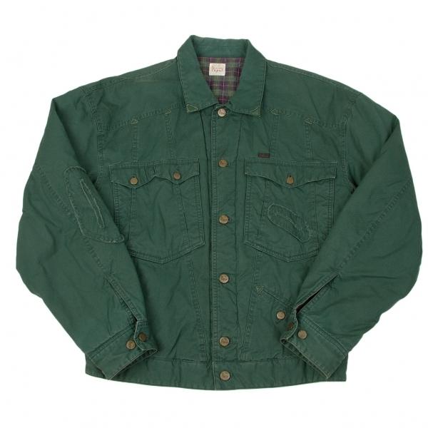パパスPapas 中綿入りコットントラッカージャケット 緑M【中古】 【メンズ】