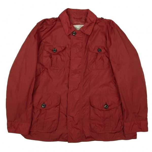 パパスプラスPapas+ ナイロン肩章パッチポケットジャケット 赤LL【中古】 【メンズ】