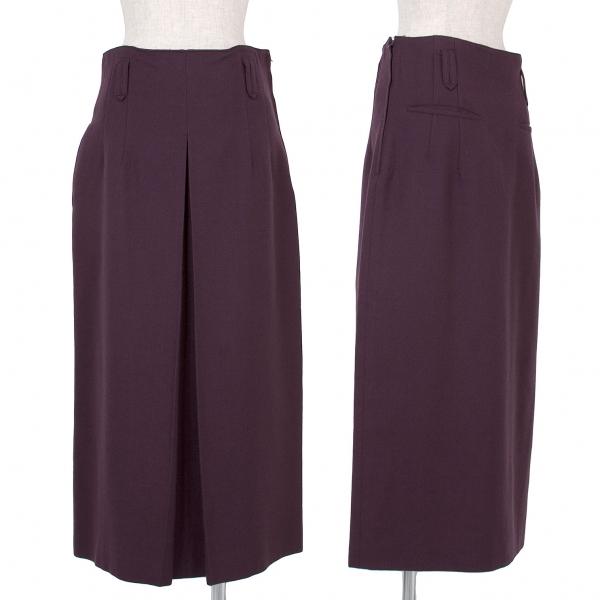 ジャンポールゴルチエ Jean Paul GAULTIER ウール混ロングタイトスカート 紫M位【中古】