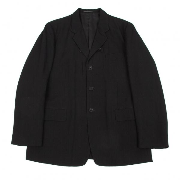ヨウジヤマモト プールオムYohji Yamamoto POUR HOMME ウールギャバポケットデザインジャケット 黒4【中古】 【メンズ】