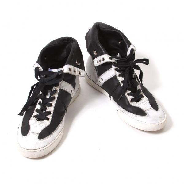 【SALE】ディオールオムDior Homme バイカラーレザーハイカットスニーカー 黒白40(25位)【中古】 【メンズ】