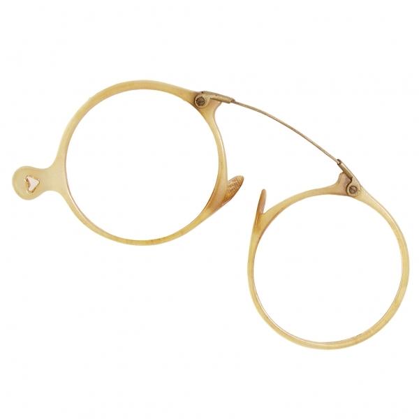 ヴィンテージ丸眼鏡メガネ レンズ無し 茶直径45【中古】