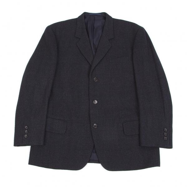 ワイズフォーメンY's for men ミックスウール厚手ジャケット 紺グレーS【中古】 【メンズ】