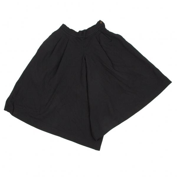 コムデギャルソンCOMME des GARCONS 製品染めポリビッグシルエットパンツ 黒S【中古】 【レディース】