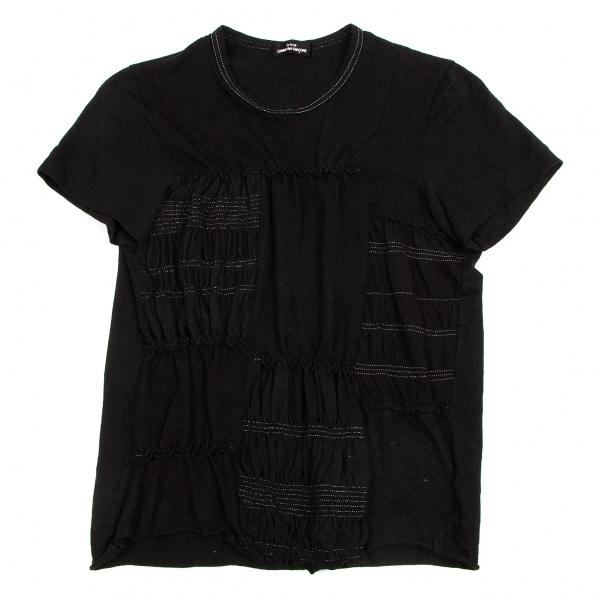 トリコ コムデギャルソンtricot COMME des GARCONS 異素材切替Tシャツ 黒M位【中古】