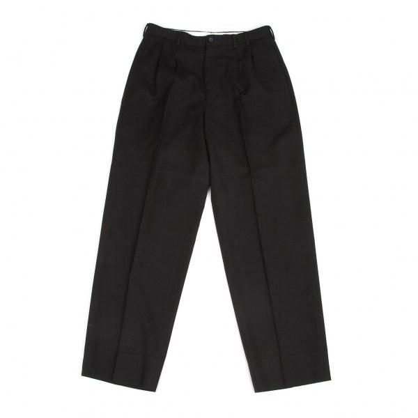 パパスPapas ウール2タックパンツ 黒L80【中古】 【メンズ】