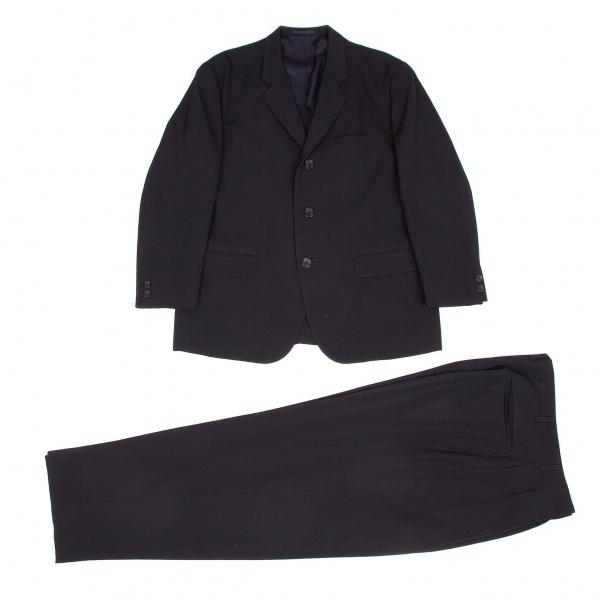 ワイズフォーメンY's for men ウールギャバセットアップスーツ 紺S/LL【中古】 【メンズ】