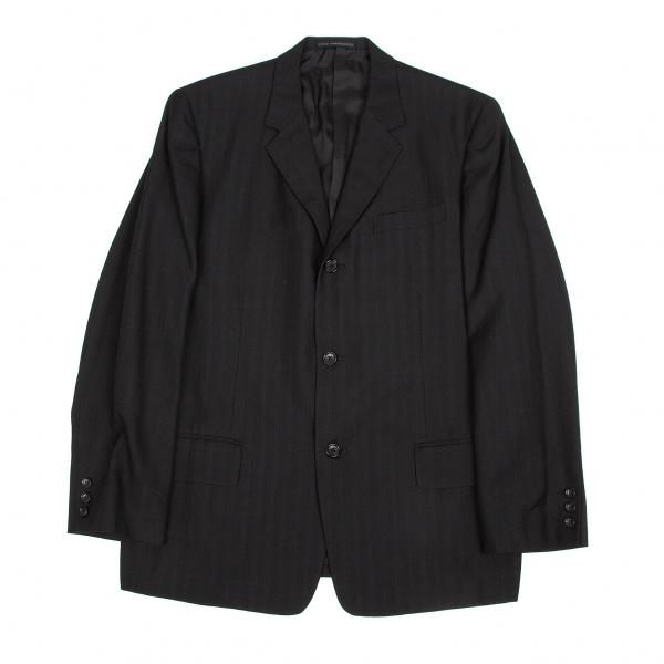 ワイズフォーメンY's for men ウールレーヨンストライプジャケット 黒4【中古】 【メンズ】
