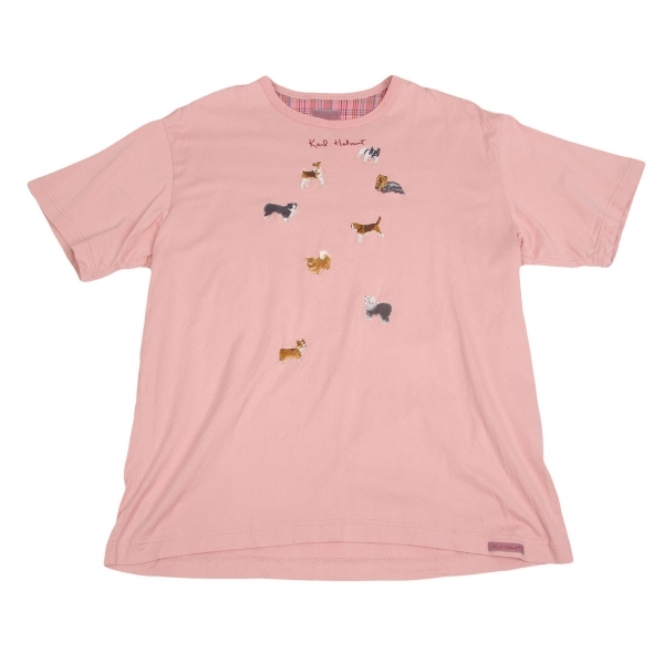 Finders Keepers (ファインダーズキーパーズ) PINK LARGE L 40711702 MADE IN JAPAN クルーネック半袖Tシャツ FK-EMBROIDERED LOGO S/ FLAME ファイヤーロゴ 刺繍ロゴ S TEE フレーム 【新品】 フレイム エンブロイドT-SHIRT
