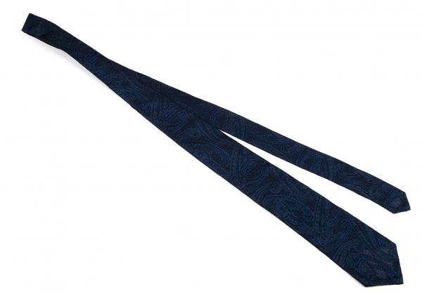 伊勢丹人提花機領帶藏青色