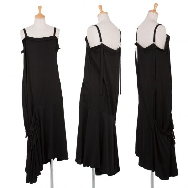 ワイズY's レーヨン裾ギャザーワンピース 黒1【中古】 【レディース】