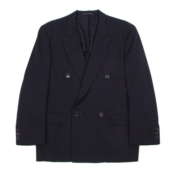 ワイズフォーメンY's for men ウールギャバダブルブレストジャケット 紺M【中古】 【メンズ】
