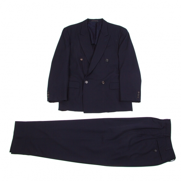 ワイズフォーメンY's for men ウールギャバダブルセットアップスーツ 紺M【中古】 【メンズ】