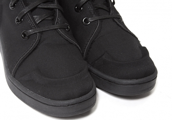 是新货,但是…!yojiyamamotofamu Yohji Yamamoto FEMME帆布拳击长筒靴CAMPUS BOXING AQ5628黑23