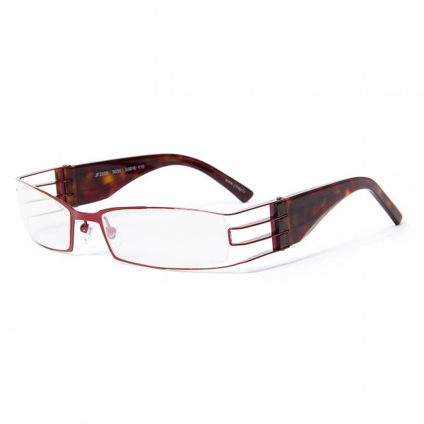 【SALE】ジェイエフレイ J.F.REY JF2203 3030 メガネ眼鏡 デモクリアレンズ エンジ茶53□18 115【中古】 【メンズ】