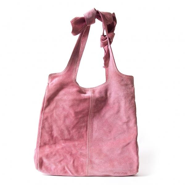 【SALE】ミュウミュウMIU MIU スウェードハンドバッグ 淡ピンク【中古】 【レディース】