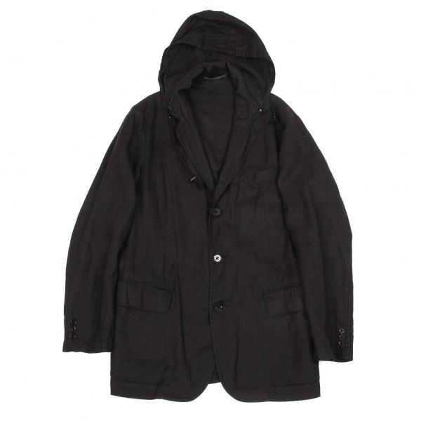 ワイズフォーメンY's for men リネン製品染めフード付きジャケット 黒2【中古】 【メンズ】