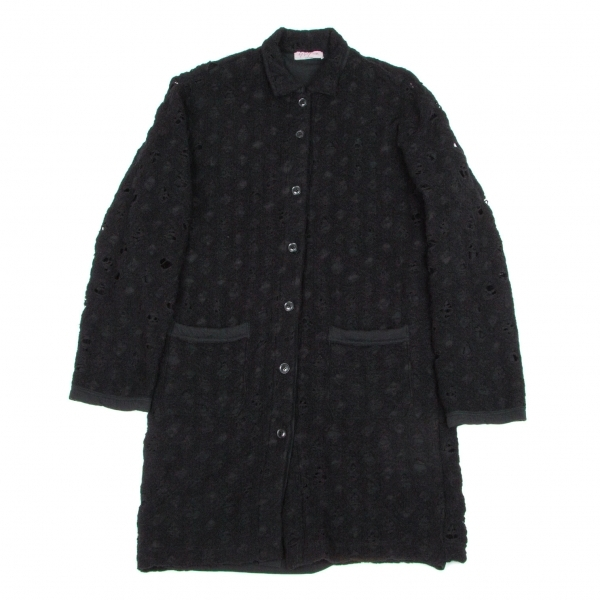 ヨウジヤマモト プールオムYohji Yamamoto POUR HOMME クラッシュニットリバーシブルシャツジャケット 黒3【中古】 【メンズ】
